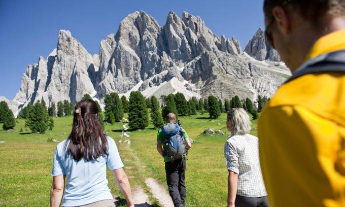 Im Urlaub in den Dolomiten können Sie aktiv sein
